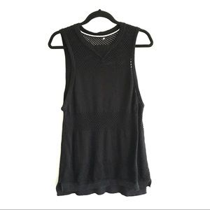 KIT and ACE Sleeveless Light Knit Tank Top Black S